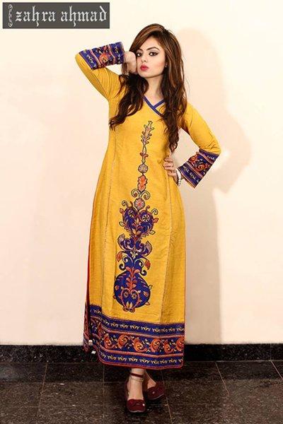 Zahra Ahmad Winter Dresses 2014 For Women