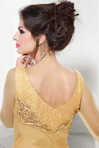 Pakistan Women Christmas Night Party Dresses 2014-2015 Pictures