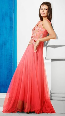 Pakistan Women Christmas Night Party Dresses 2014-2015 Images