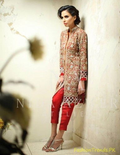 Nida Azwer Formal Wear Dresses 2015