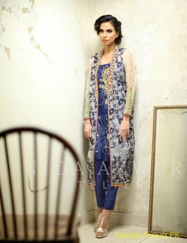 Nida Azwer Formal Wear Dresses 2015