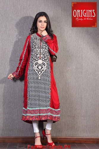 Origins Winter Dresses 2015 New Designs
