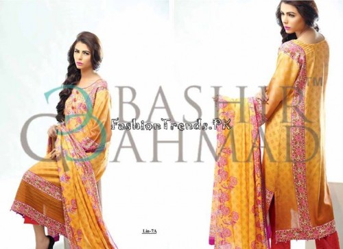 Bashir Ahmed Textile Summer Lawn Dresses 2015 (10)