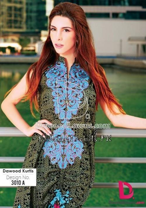 Dawood Lawn Designer Kurti Collection 2015 (3)