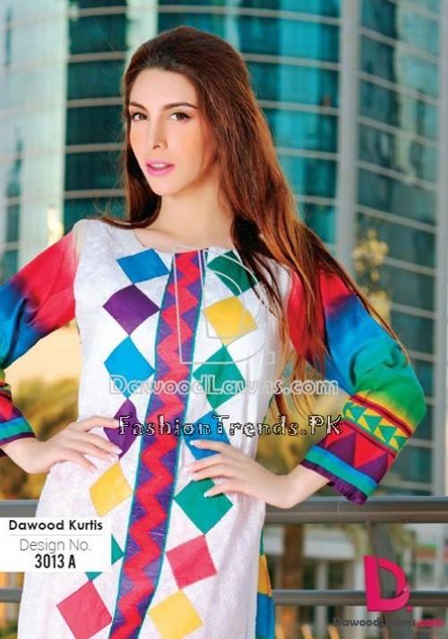 Dawood Lawn Designer Kurti Collection 2015 (9)