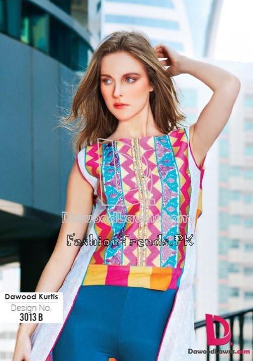 Dawood Lawn Designer Kurti Collection 2015 (10)
