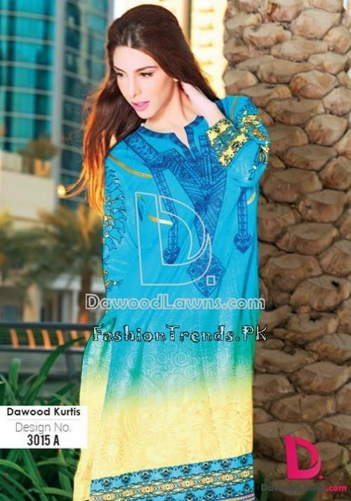 Dawood Lawn Designer Kurti Collection 2015 (13)