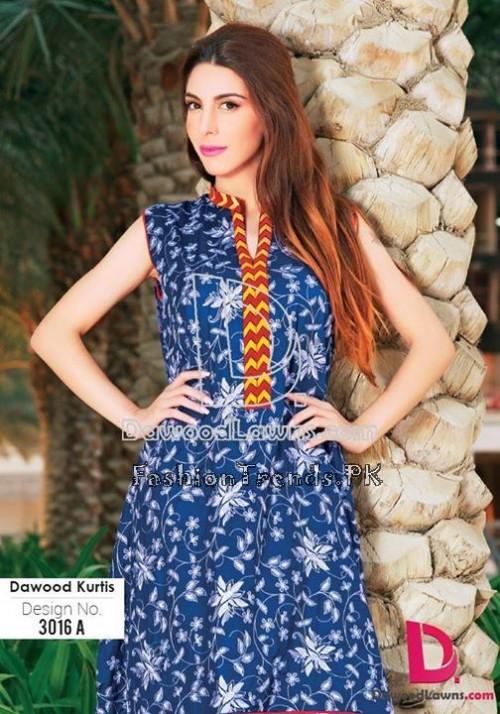 Dawood Lawn Designer Kurti Collection 2015 (15)