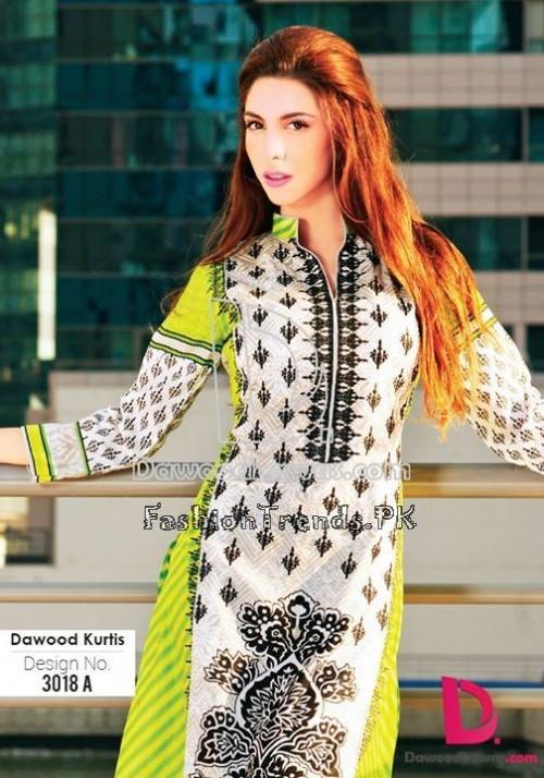Dawood Lawn Designer Kurti Collection 2015 (19)