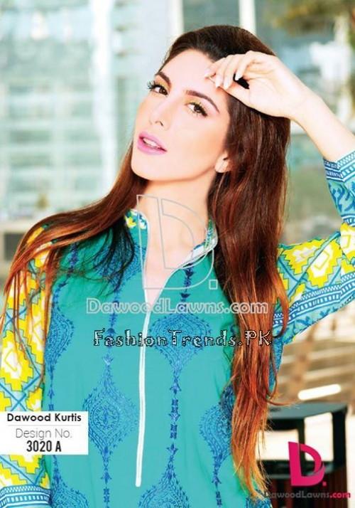 Dawood Lawn Designer Kurti Collection 2015 (23)