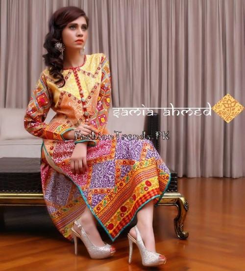 Samia Ahmed Spring Summer Dresses 2015 (1)