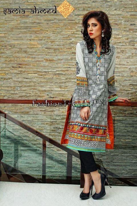 Samia Ahmed Spring Summer Dresses 2015 (4)