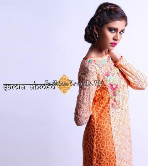 Samia Ahmed Spring Summer Dresses 2015 (6)