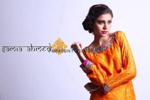 Samia Ahmed Spring Summer Dresses 2015 (11)