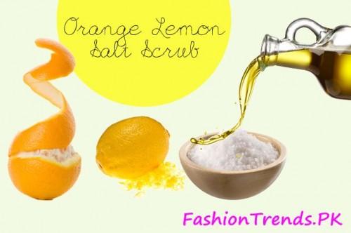 Scrub Mask of Salt, Sugar and Lemon