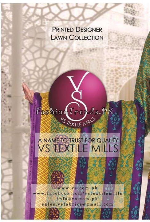 VS Textile Designers Printed Lawn Dress 2015 (8)