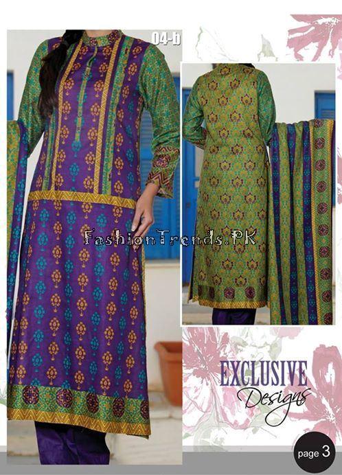 VS Textile Designers Printed Lawn Dress 2015 (2)