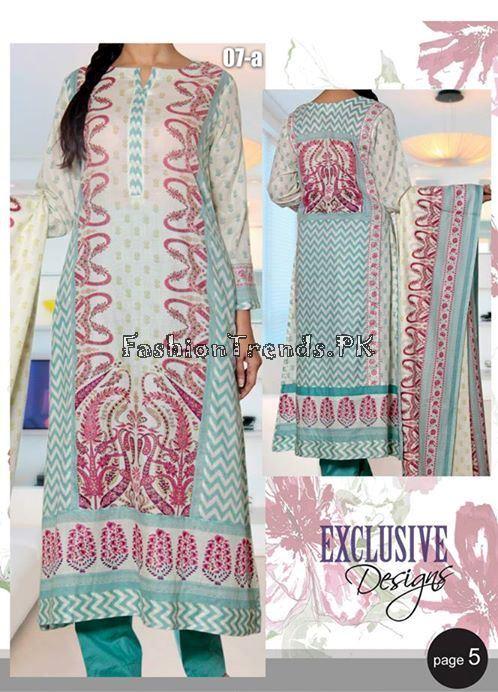 VS Textile Designers Printed Lawn Dress 2015 (4)