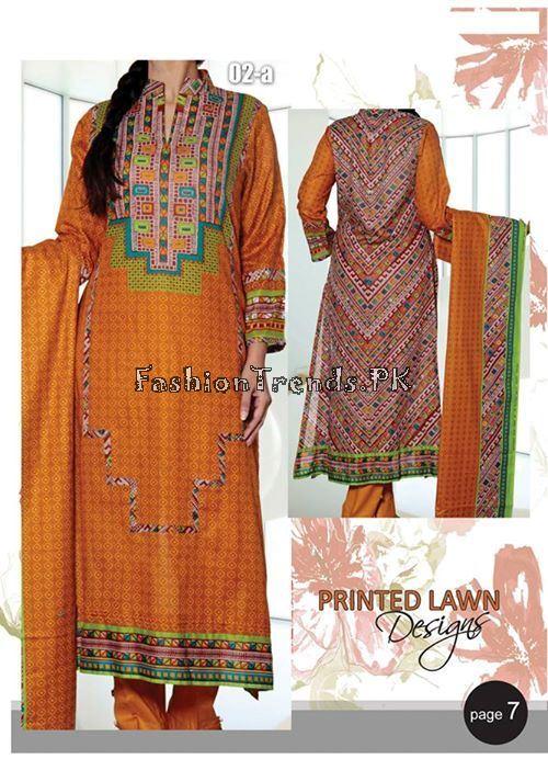 VS Textile Designers Printed Lawn Dress 2015 (6)