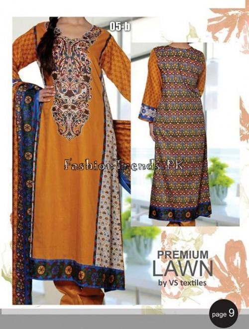 VS Textile Designers Printed Lawn Dress 2015 (7)