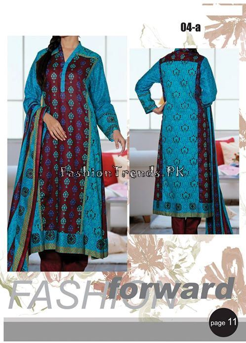 VS Textile Designers Printed Lawn Dress 2015 (12)