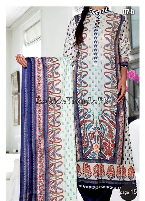 VS Textile Designers Printed Lawn Dress 2015 (15)