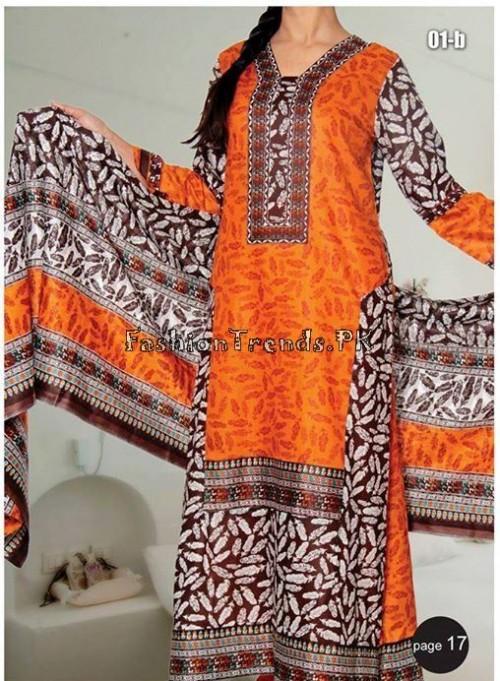 VS Textile Designers Printed Lawn Dress 2015 (17)