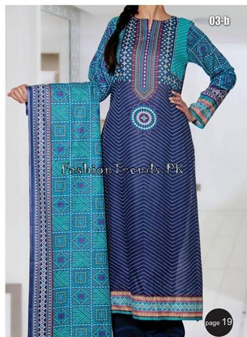 VS Textile Designers Printed Lawn Dress 2015 (19)