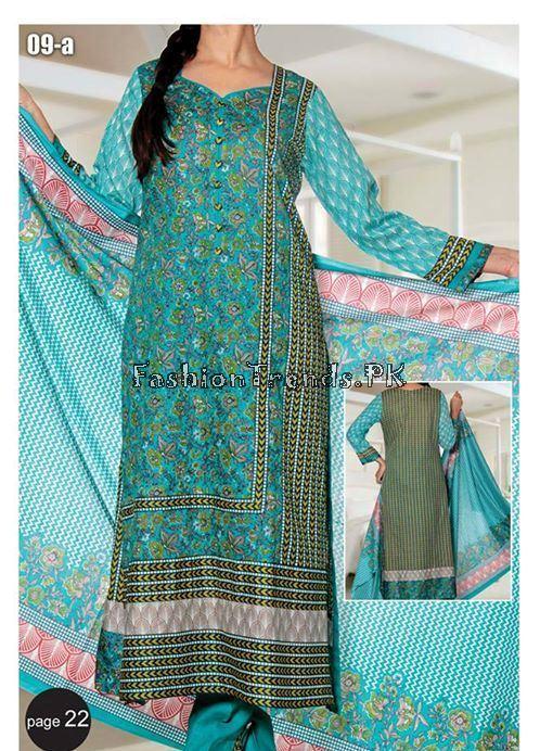 VS Textile Designers Printed Lawn Dress 2015 (22)