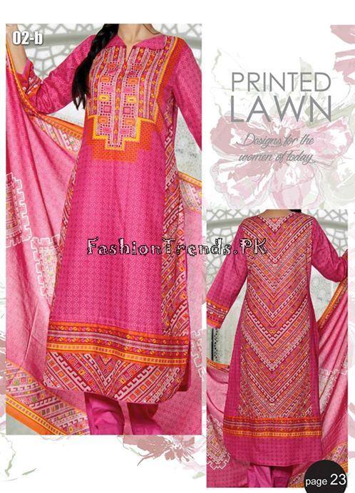 VS Textile Designers Printed Lawn Dress 2015 (23)