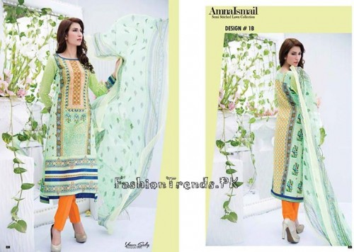 Amna Ismail Lawn Collection 2015 (1)