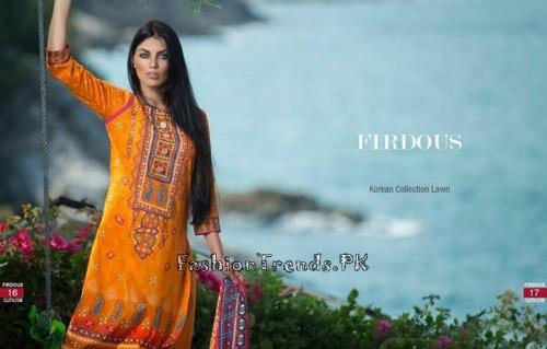 Firdous Cloth Mills Korean Lawn Collection 2015 (7)