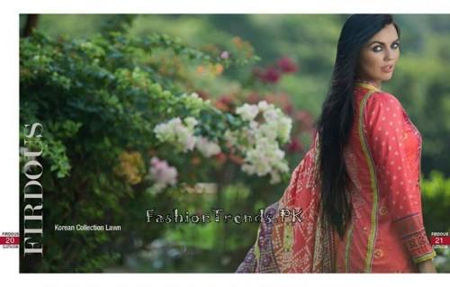 Firdous Cloth Mills Korean Lawn Collection 2015 (9)