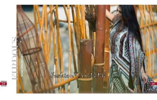 Firdous Cloth Mills Korean Lawn Collection 2015 (11)