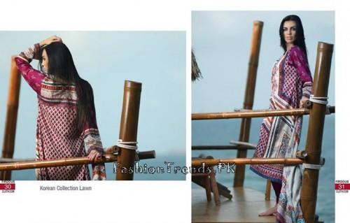 Firdous Cloth Mills Korean Lawn Collection 2015 (14)