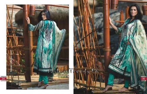 Firdous Cloth Mills Korean Lawn Collection 2015 (16)