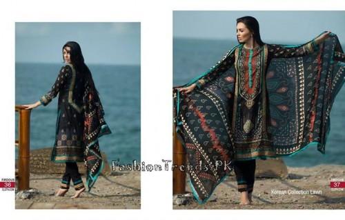 Firdous Cloth Mills Korean Lawn Collection 2015 (17)