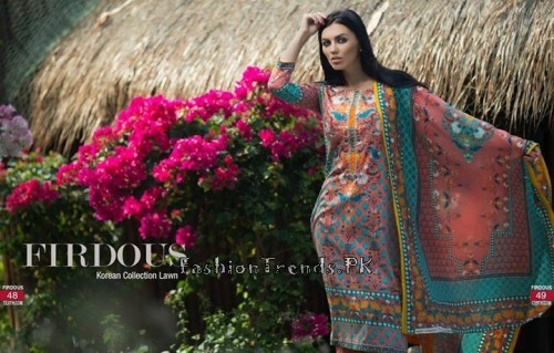 Firdous Cloth Mills Korean Lawn Collection 2015 (23)