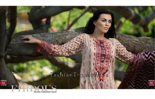 Firdous Cloth Mills Korean Lawn Collection 2015 (26)