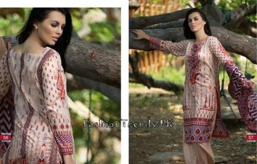 Firdous Cloth Mills Korean Lawn Collection 2015 (27)