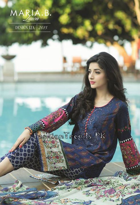 Maria B. Summer Lawn Dresses 2015 (7)