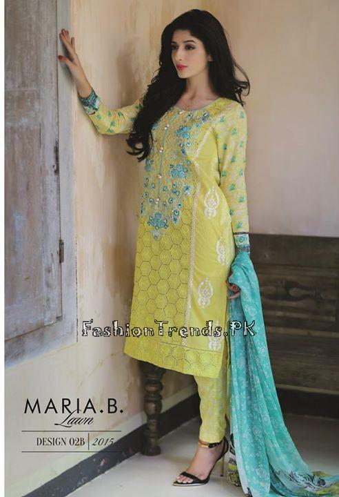 Maria B. Summer Lawn Dresses 2015 (15)