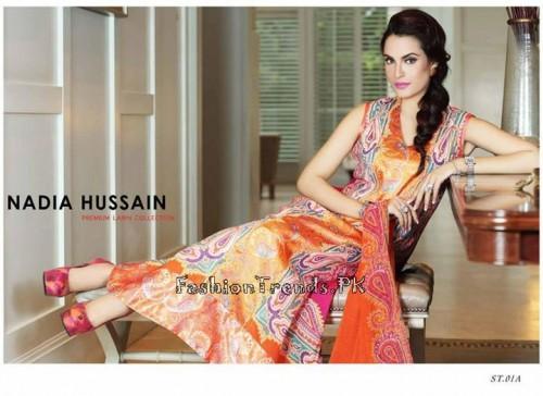 Nadia Hussain Premium Lawn Collection 2015 (3)