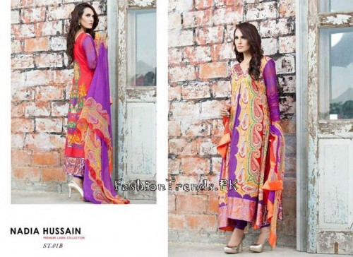 Nadia Hussain Premium Lawn Collection 2015 (5)
