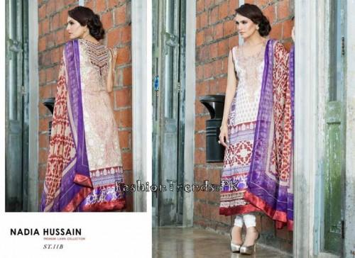 Nadia Hussain Premium Lawn Collection 2015 (32)
