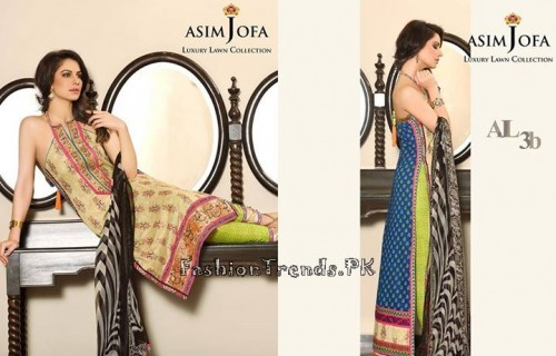Asim Jofa Luxury Lawn Collection 2015 (1)