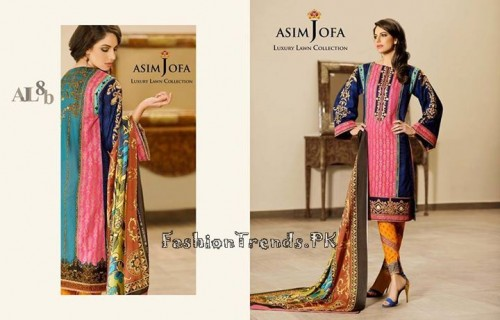 Asim Jofa Luxury Lawn Collection 2015 (3)