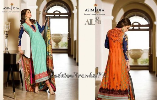 Asim Jofa Luxury Lawn Collection 2015 (4)