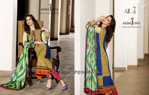 Asim Jofa Luxury Lawn Collection 2015 (6)