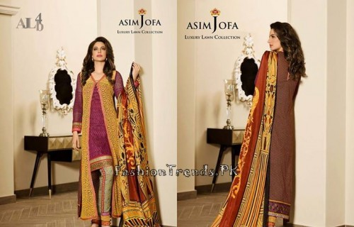 Asim Jofa Luxury Lawn Collection 2015 (7)